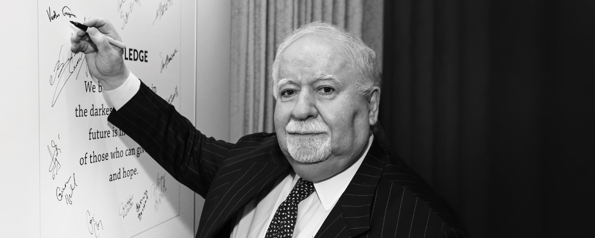 Statement of the Aurora Humanitarian Initiative on the Passing of Vartan Gregorian